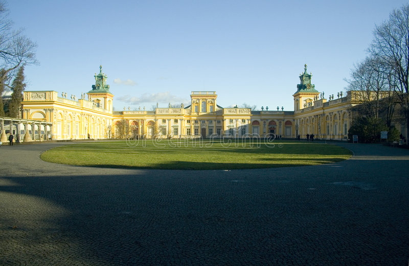 barock slottwilanow arkivbild