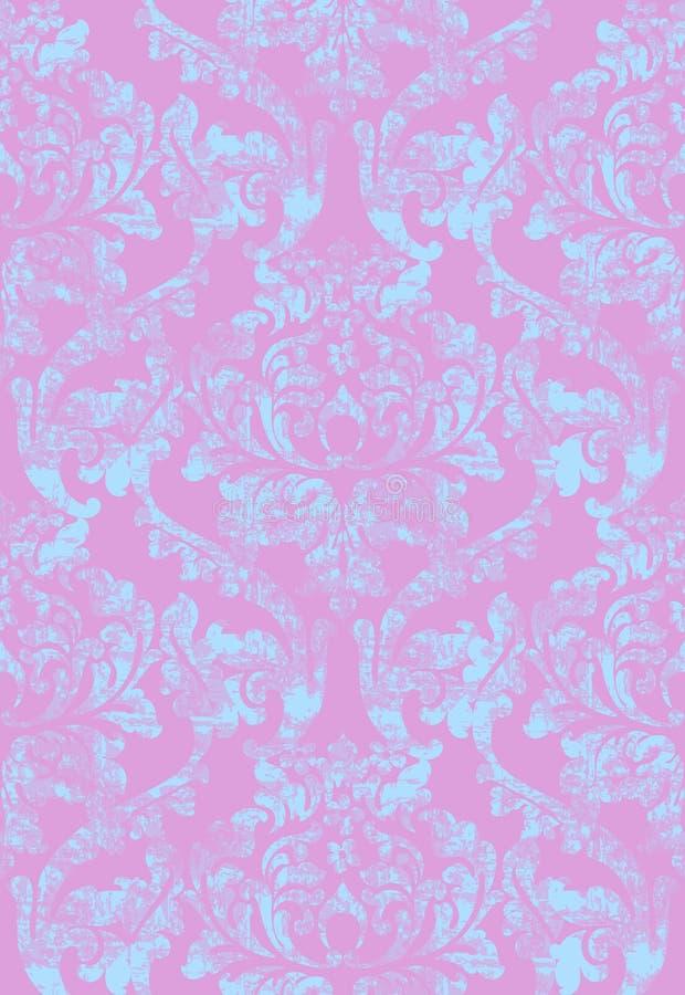 Barock smyckad bakgrundsvektor för tappning Kunglig lyxig textur Elegant dekordesign med gamla grungestilar Rosa färger vektor illustrationer