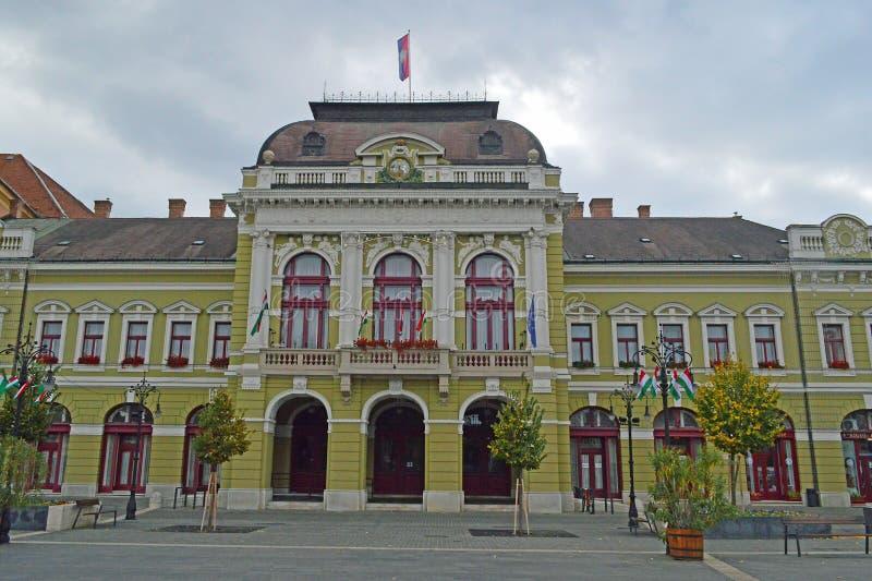 Barock stadshusbyggnad, Eger Ungern arkivfoton
