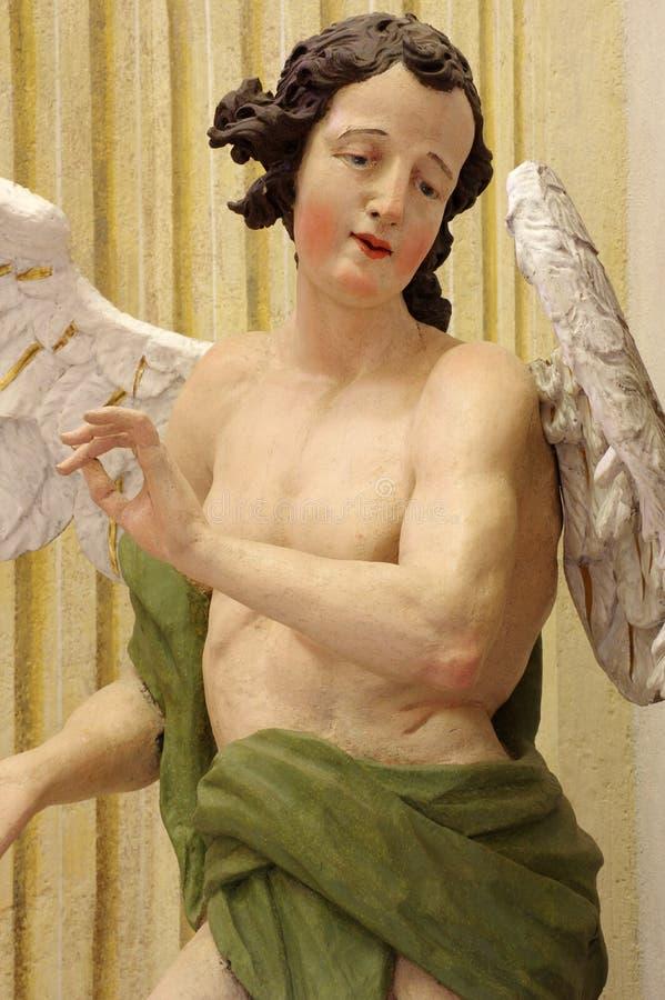 Barocke Engelsskulptur stockbild