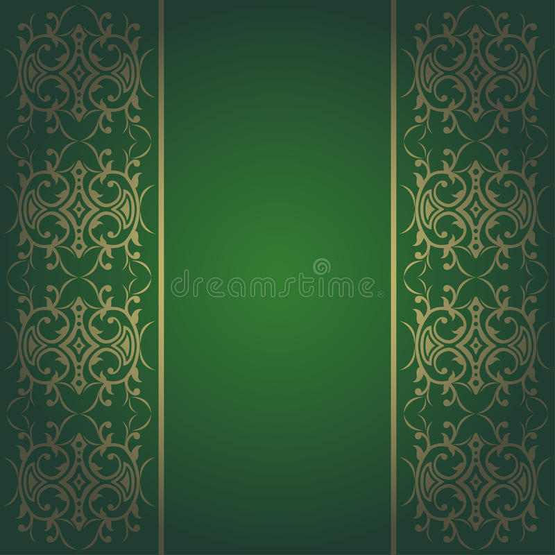 Barocke grüne Hintergrundblumen lizenzfreie abbildung