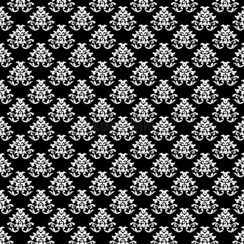 Barocke Hintergrund-Muster-Beschaffenheit - Schwarzes und Whi stockfotografie