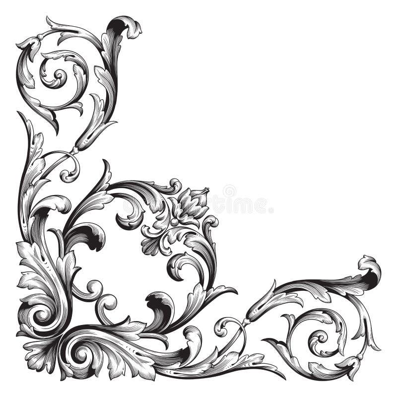 Barocke Verzierung des Vektors im viktorianischen Stil lizenzfreie abbildung