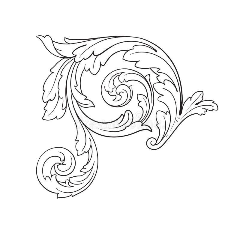 Barocke Verzierung des Vektors im viktorianischen Stil vektor abbildung