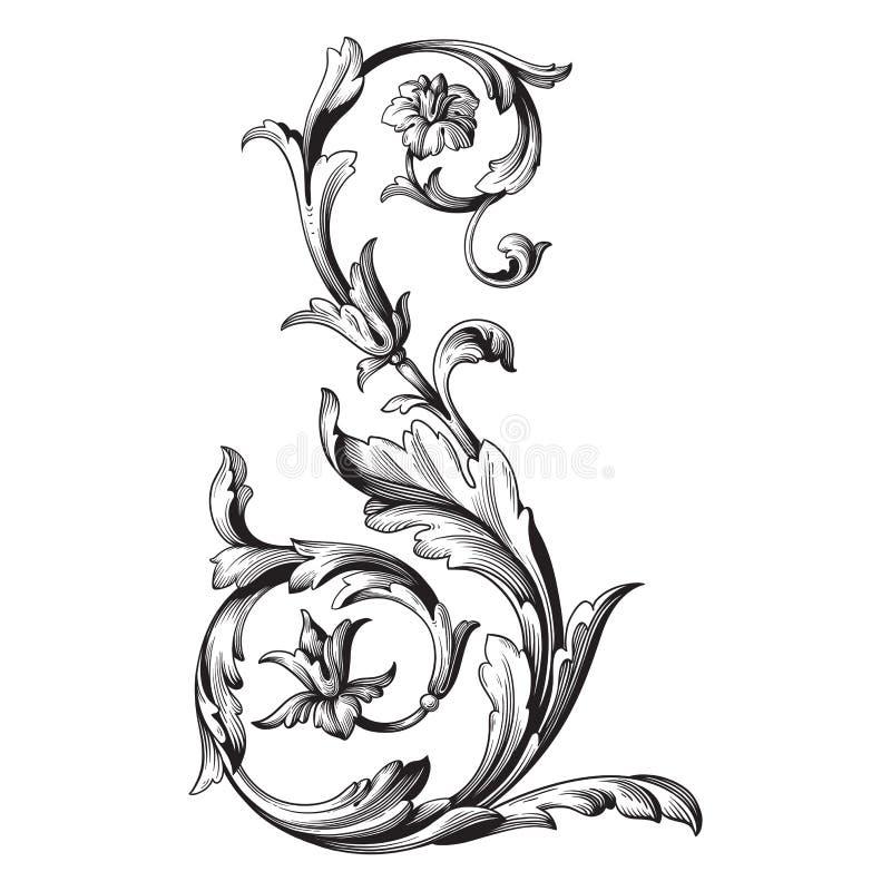 Barocke Verzierung des Vektors im viktorianischen Stil stock abbildung