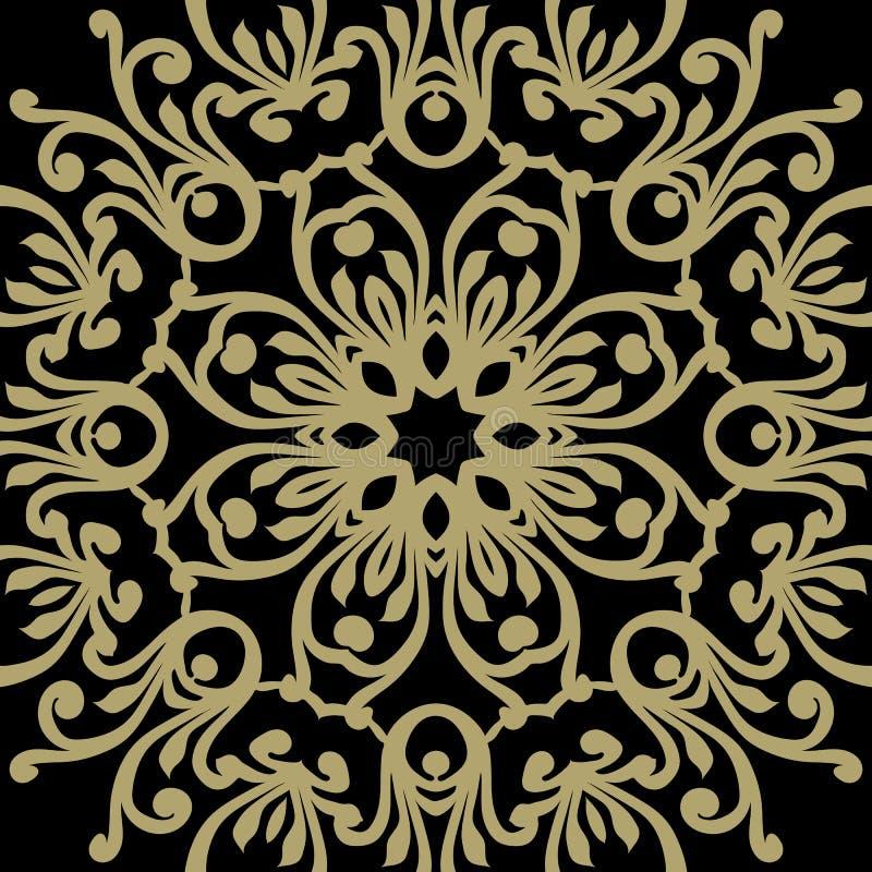 Barocke Verzierung des Vektors im viktorianischen Stil Aufwändiges Element für d stock abbildung