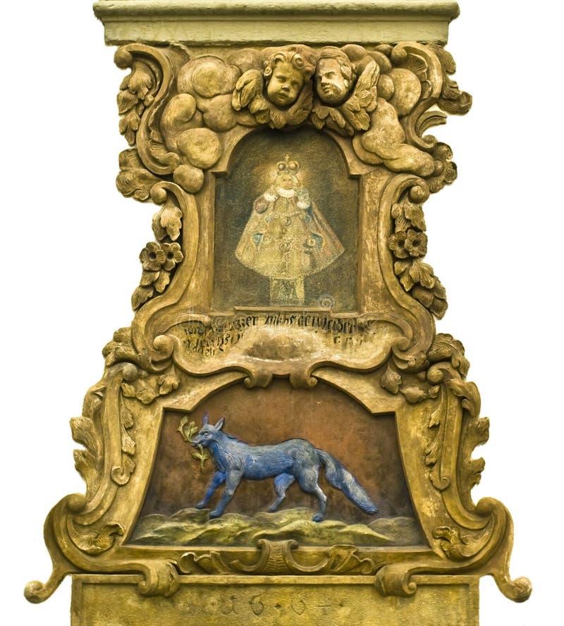 Barocker mittelalterlicher Dekor in Prag stockfoto