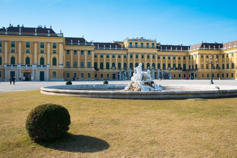Barocker Palast Schonbrunn in Wien, Österreich lizenzfreie stockfotos