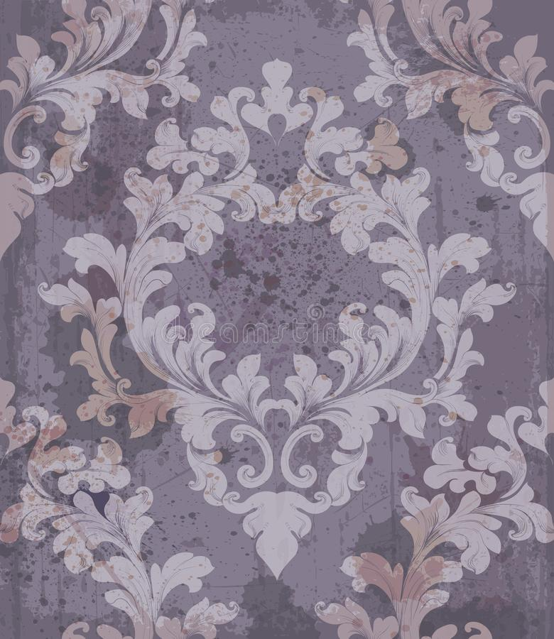 Barocker purpurroter Hintergrund Vektor-Illustrationsdekor vektor abbildung