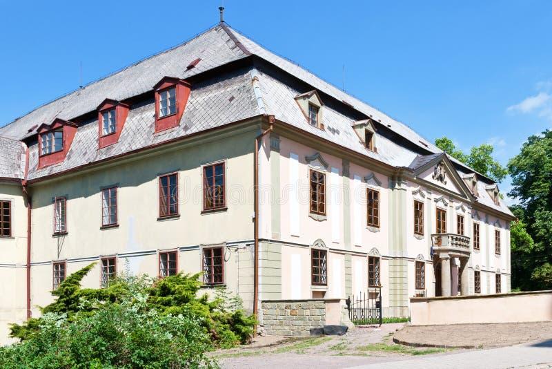 Barockes Chateau Potstejn von 1746-1755, Ost-Böhmen, Tschechische Republik stockfotos