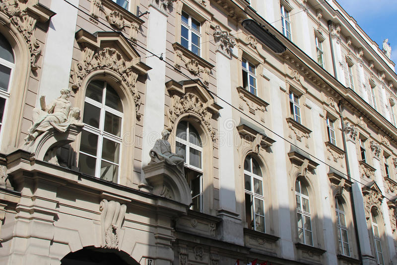 Barockes Gebäude - Wien - Österreich stockbilder