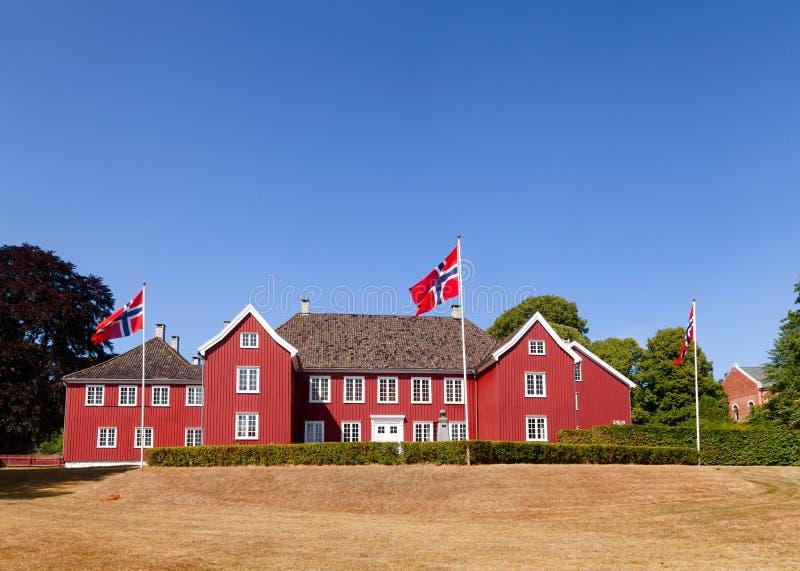 Barockes Herregarden-Herrenhaus Larvik Vestfold Norwegen Scandinav stockbild