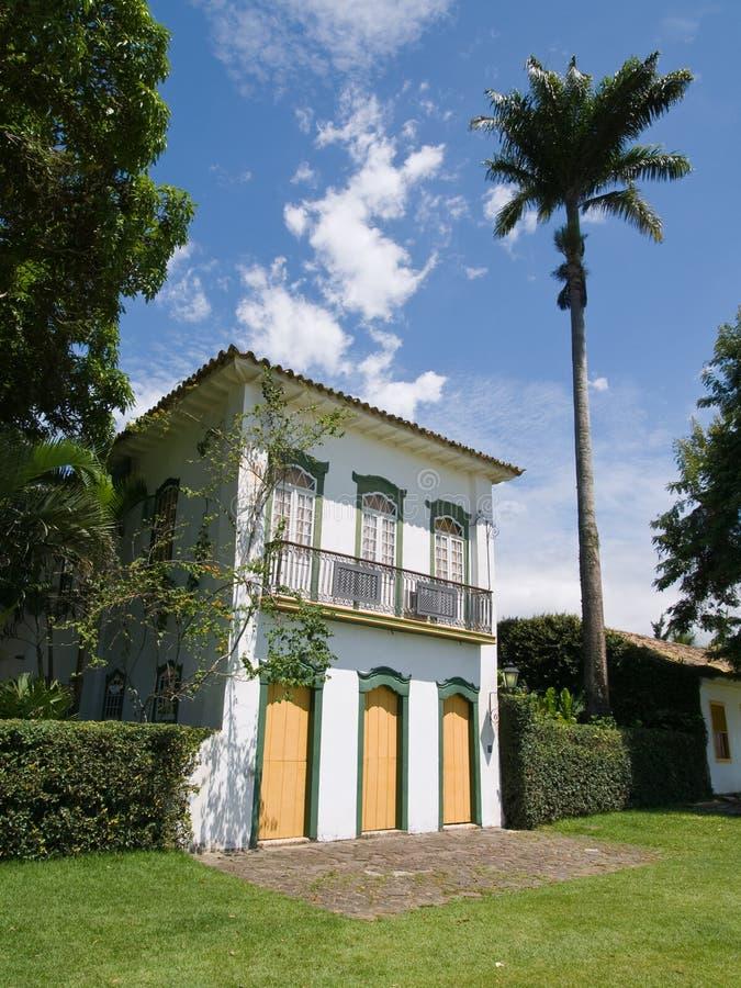 barockt paraty brazil hus royaltyfria foton