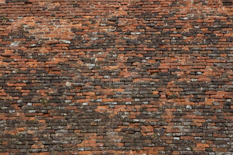 Barok baksteenvestingwerk Achtergrond textuur royalty-vrije stock afbeelding