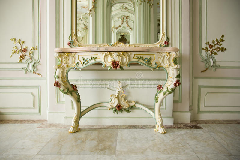 Barok binnenland van een edel paleis royalty-vrije stock fotografie