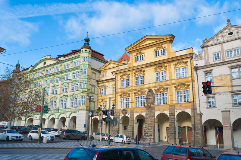 Download Barok domy w Prague zdjęcie stock editorial. Obraz złożonej z przeznacza - 57661233