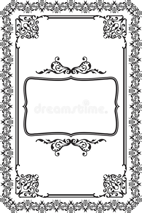 Barok frame vector illustratie