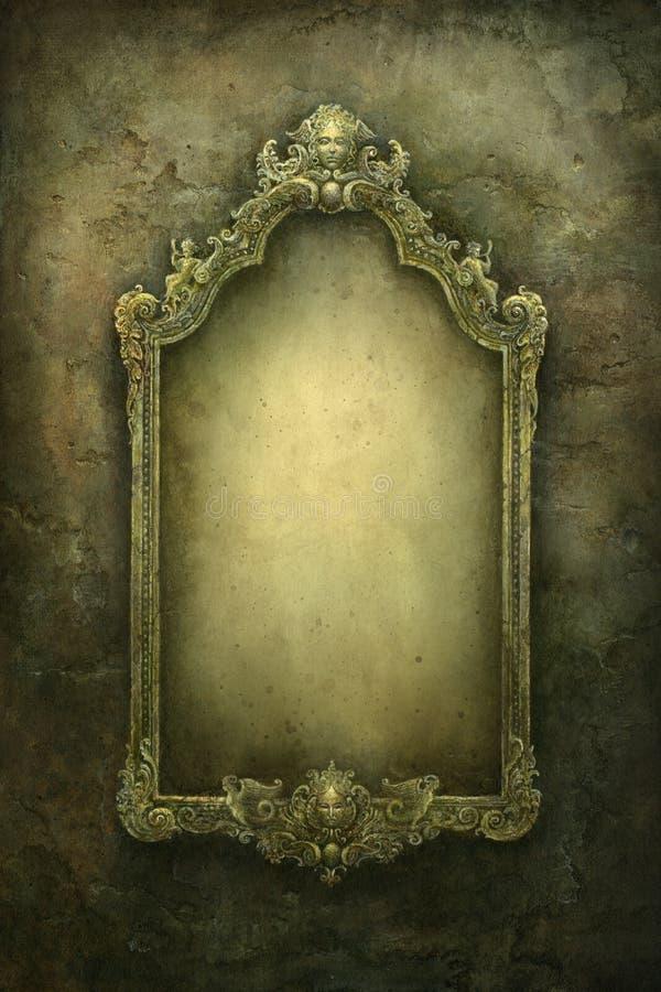 Barok frame royalty-vrije illustratie