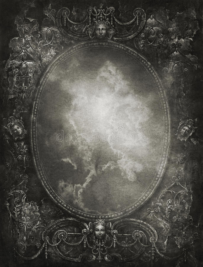 Barok frame vector illustratie