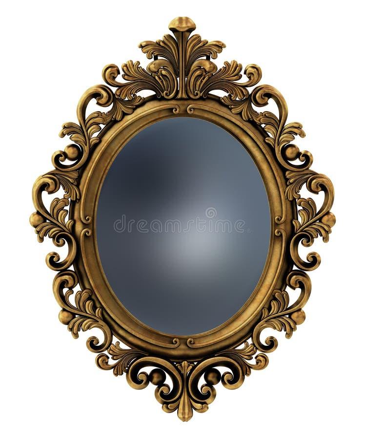 Barok gouden frame stock afbeeldingen