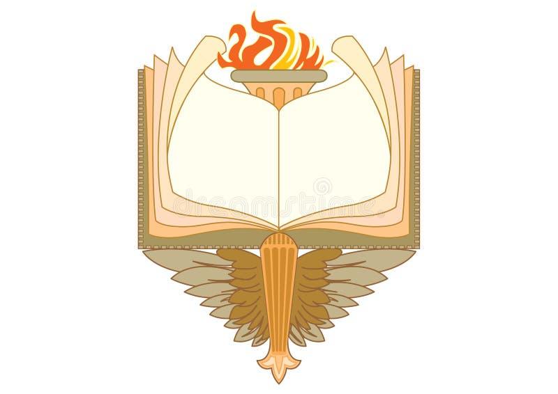 Barok książki ramy i dekoracyjni elementy - rocznika sztandar z faborkiem ilustracji