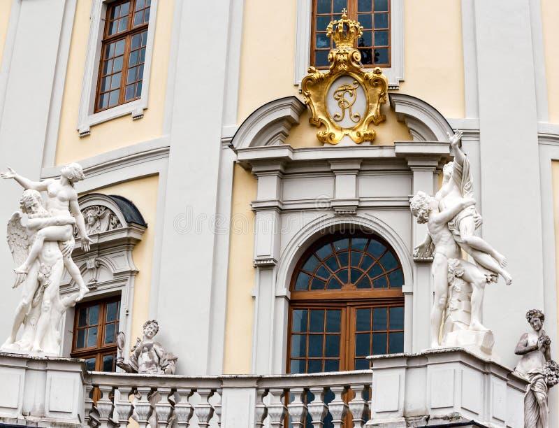 Barok paleis in historische Ludwigsburg, Duitsland royalty-vrije stock fotografie