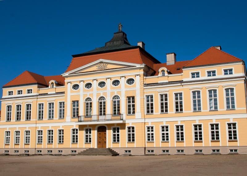 Barok paleis (Rogalin, Polen) stock afbeelding