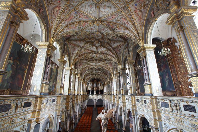 Barok rijk verfraaid kerkschip royalty-vrije stock fotografie