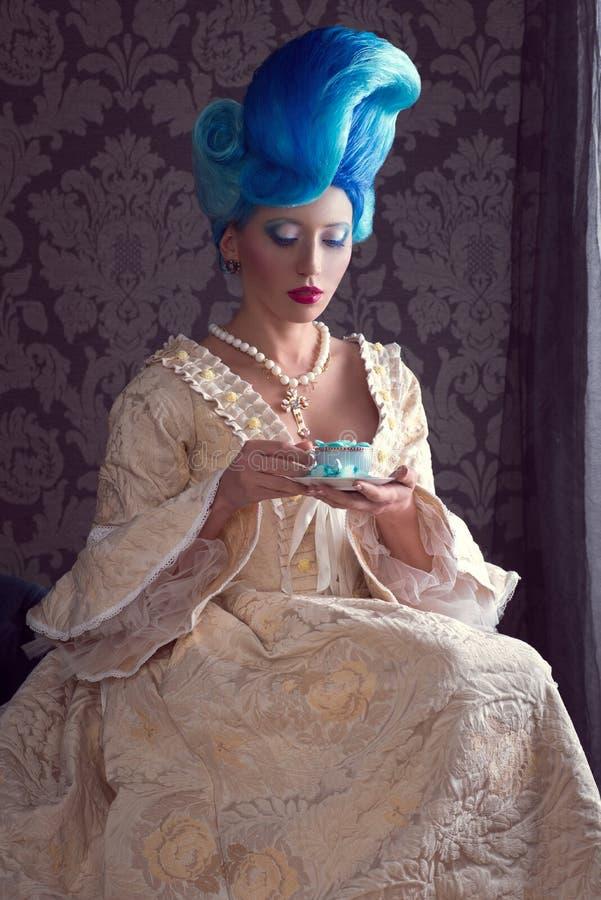 Barok suknia obrazy stock