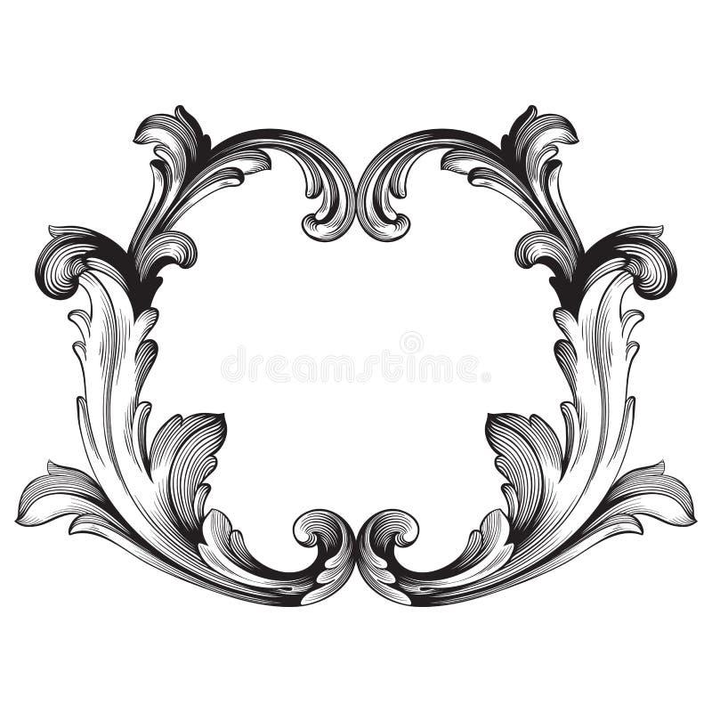 Barok van uitstekende elementen voor ontwerp vector illustratie