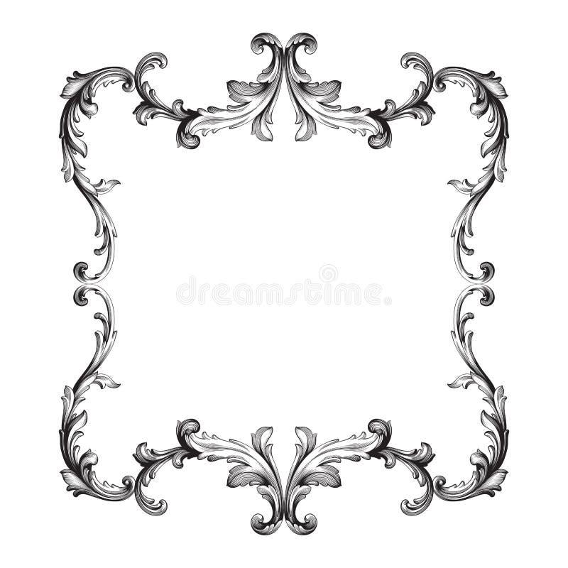 Barok van uitstekende elementen voor ontwerp royalty-vrije illustratie