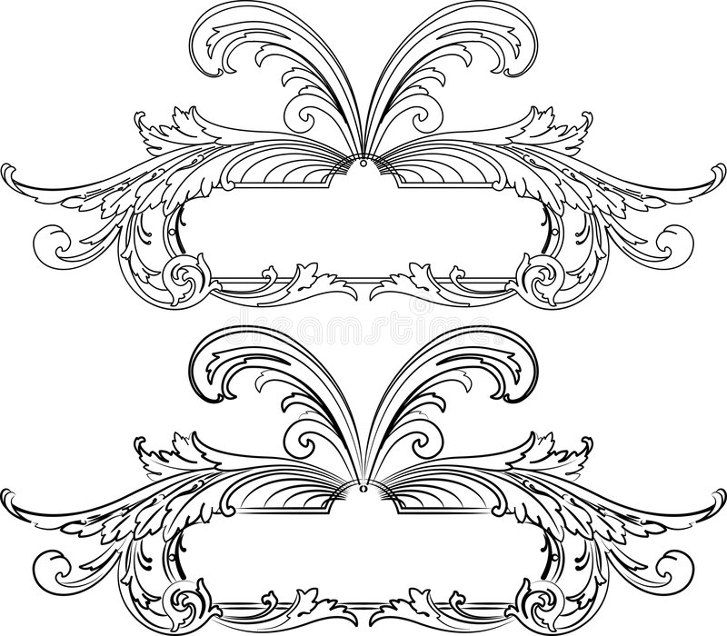 Barokke Banner Twee Stijlen vector illustratie