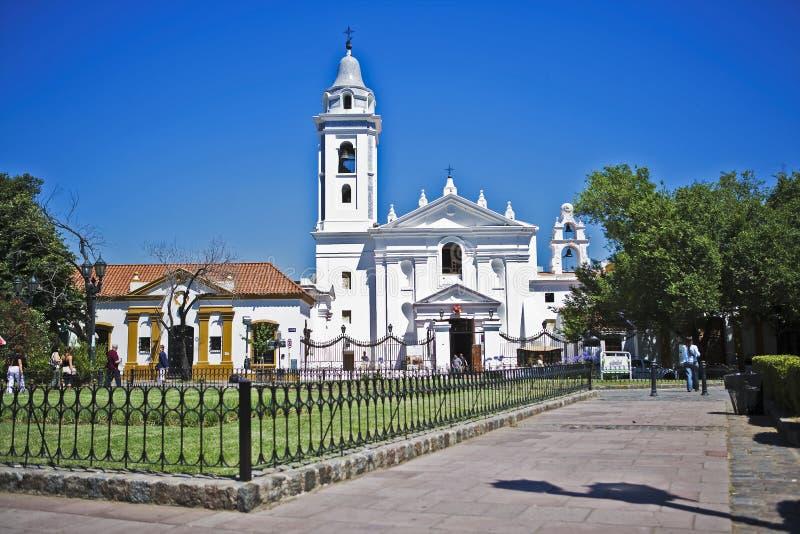 Barokke Basiliek Nuestra Senhora del Pilar royalty-vrije stock afbeeldingen