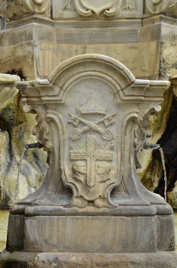 Barokke fontein, Tarquinia royalty-vrije stock foto