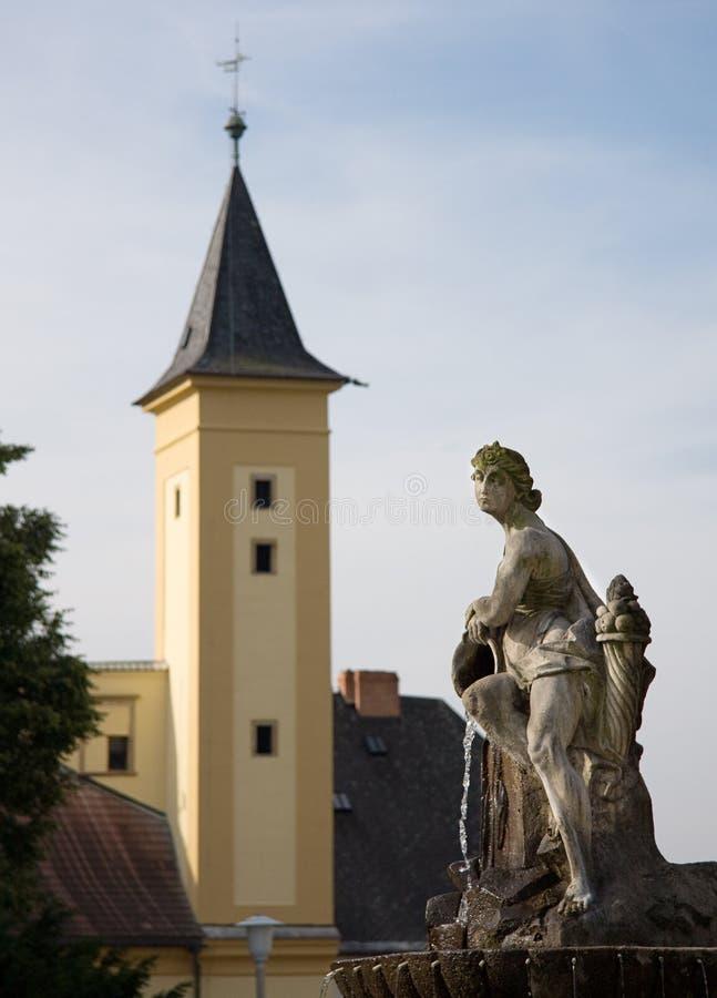 Barokke fontein - Zabreh royalty-vrije stock foto's