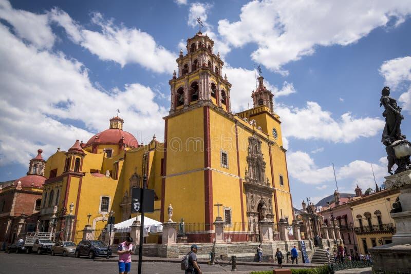 Barokke Kathedraal, Guanajuato, stad in Centraal Mexico royalty-vrije stock fotografie