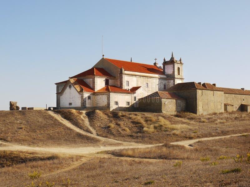 Barokke Kerk, Kaap Espichel, Portugal royalty-vrije stock afbeeldingen