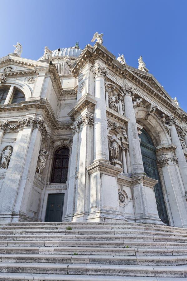 Barokke kerk Santa Maria della Salute, voorgevel, Venetië, Italië stock afbeelding