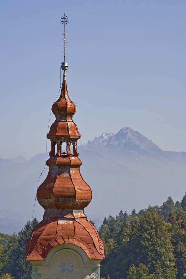 Barokke kerktoren stock afbeeldingen