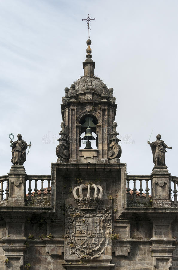 Barokke kerkvoorzijde stock foto