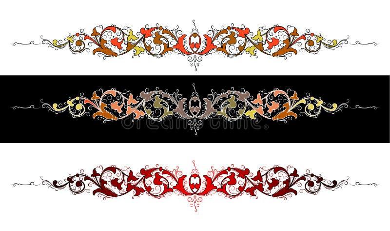 Barokke kleur stock illustratie