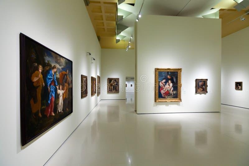 Barokke Kunstzaal in Nationaal Art Museum royalty-vrije stock afbeeldingen