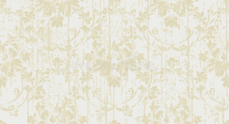 Barokke ornamentvector Koninklijke victorian grungeachtergrond De in gouden texturen van de kleurenstof stock illustratie