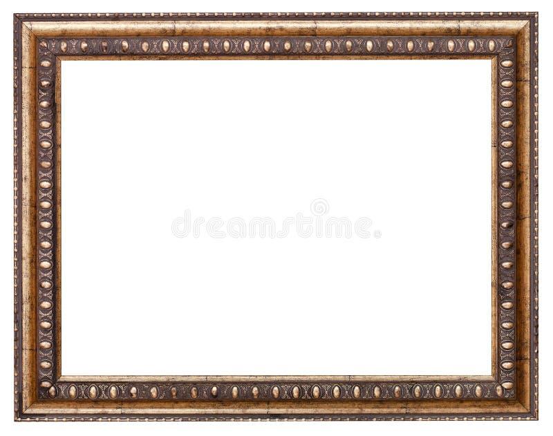 Barokke stijlomlijsting met verwijderd canvas royalty-vrije stock foto