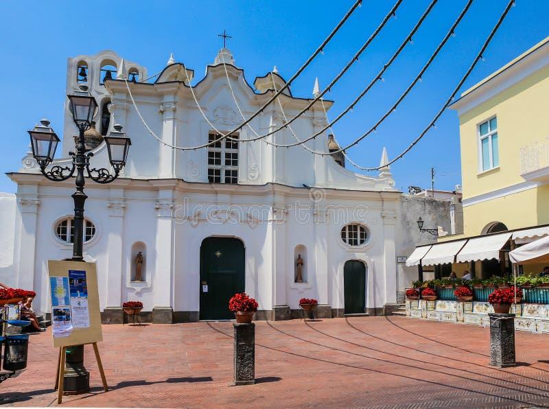 Barokke voorgevel van Chiesa-Di Santa Sofia royalty-vrije stock afbeeldingen