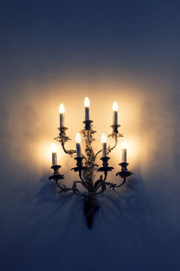Barokowa ścienna lampa obraz stock