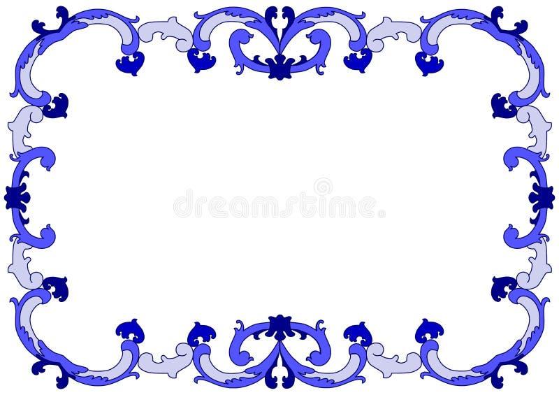 Barokowa fala ramy granica ilustracji
