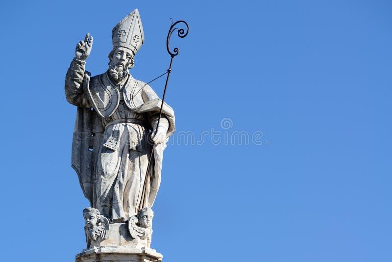 Barokowa Santo Oronzo statua fotografia stock