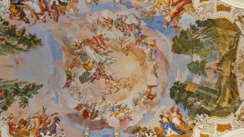 barokowi kościelni fresk fotografia stock