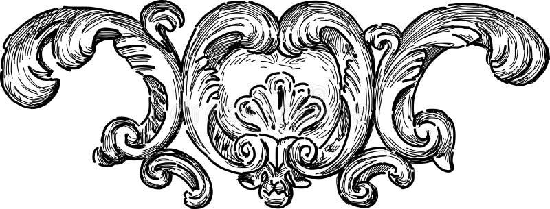 Barokowy architectueal szczegół ilustracji
